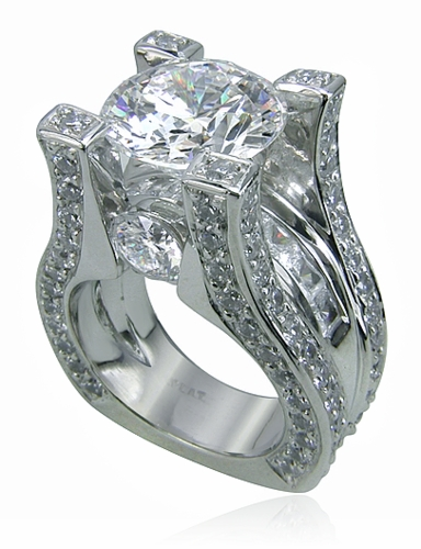 Taj 5 5 Carat Round Cubic Zirconia Channel Set Princess