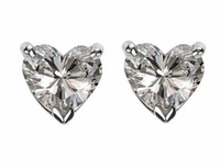 .50 ct. Each Heart Cubic Zirconia Stud Earrings