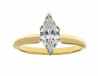 .75 Carat Marquise Cubic Zirconia Classic Solitaire Engagement Ring