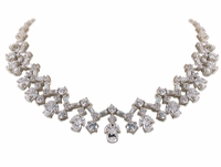 Abingdale Round Pear Marquise Emerald Cut Cluster Statement Necklace