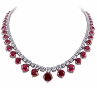 Adeen Graduated Cubic Zirconia Round Drop Statement Tennis Necklace