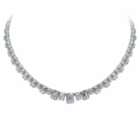 Alcott Graduated Emerald Cut Statement Tennis Necklace