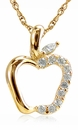 Apple Pave Set Round Cubic Zirconia Teacher Pendant