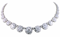 Arlington Cubic Zirconia Round Halo Cluster Graduated Statement Necklace