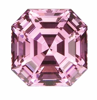 Asscher Cut Pink Diamond Look Cubic Zirconia Loose Stones