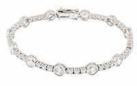 Bessa .50 Carat Round Alternating Cubic Zirconia Bracelet