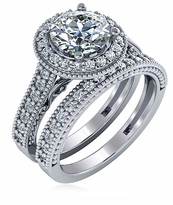 Bettina 1.5 Carat Round Wedding Bridal Set