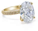 Blake Lively 9 Carat Oval Cubic Zirconia Micro Pave Wedding Set