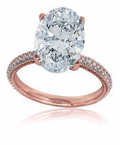 Blake Lively 9 Carat Oval Cubic Zirconia Rose Gold Engagement Ring Inspiration