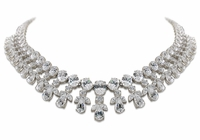 Buchanan Cubic Zirconia Oval Pear Marquise Round Statement Necklace