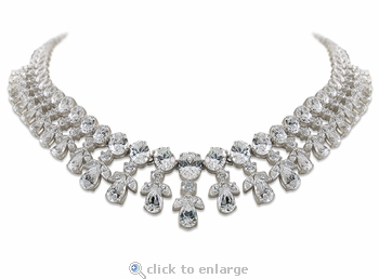 Buchanan Oval Pear Marquise Round Statement Necklace