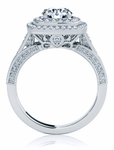 Camden 2 Carat Round Cubic Zirconia Double Halo Bridal Wedding Set