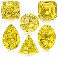 Canary Yellow Diamond Look Cubic Zirconia Loose Stones