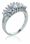 Caron Marquise Cubic Zirconia Tapered Baguette Anniversary Band