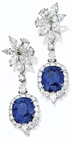 Cellestine 5.5 Emerald Cushion Cut Cubic Zirconia Marquise Pear Cluster Drop Earrings