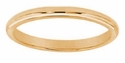 Comfort Fit 2mm Solid 14K Yellow Gold Wedding Band