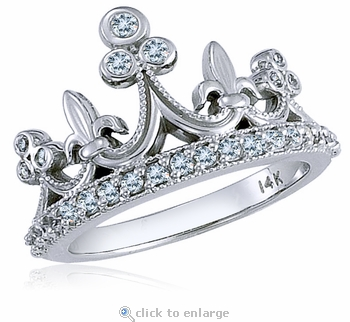 Crown Princess Pave Cubic Zirconia Ring
