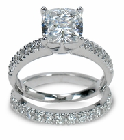 Cubic Zirconia Bridal Sets and Wedding Ring Sets