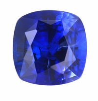 Cushion Cut Square Blue Sapphire Lab Created Synthetic Loose Stones