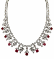 Demi Round Marquise Cubic Zirconia Drop Bib Statement Necklace
