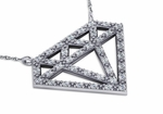 Diamond Facets Pave Set Cubic Zirconia Necklace