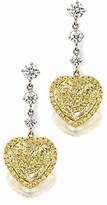 Diorro 5.5 Carat Heart Shaped Cubic Zirconia Pave Halo Drop Earrings