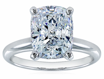 Elongated Cushion Cut Cubic Zirconia Classic Solitaire Engagement Rings