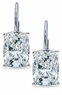 Elongated Cushion Cut Cubic Zirconia Leverback Earrings