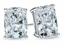 Elongated Cushion Cut Cubic Zirconia Stud Earrings