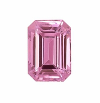 Emerald Cut Pink Diamond Look-Cubic Zirconia Loose Stones