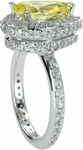 Erika 3 Carat Pear Cubic Zirconia Pave Set Halo Eternity Solitaire Engagement Ring