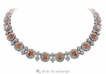Evelyn Vintage Round Marquise Cubic Zirconia Cluster Statement Necklace