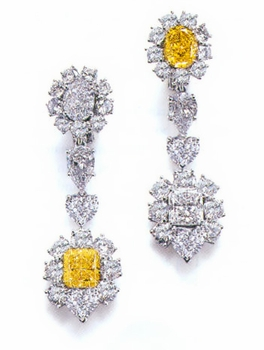 Fancy Cubic Zirconia Designer Drops, Studs, Cluster and Chandelier Style Earrings