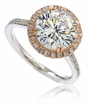 Fierra 2.5 Carat Round Halo Cubic Zirconia Micro Pave Solitaire Engagement Ring