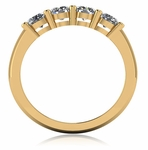Four Stone .25 Carat Each Round Shared Prong Set Cubic Zirconia Anniversary Band