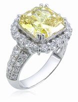 Francetta 5.5 Carat Princess Cut Cubic Zirconia Halo Solitaire Engagement Ring