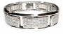 Gatto Pave Set Round Cubic Zirconia Curved Men's Bracelet