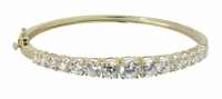 Greta Graduated Round Cubic Zirconia Bangle Bracelet Small Version