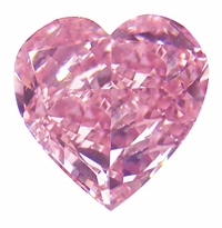 Heart Pink Diamond Look Cubic Zirconia Loose Stones