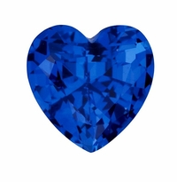 Heart Shape Blue Sapphire Lab Created Synthetic Loose Stones