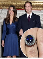 Kate Middleton Man Made Sapphire Oval Halo Cluster Cubic Zirconia Engagement Rings