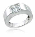 Kennedy 2.5 Carat Princess Cut Channel Set Gemlock Solitaire Engagement Ring
