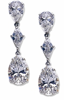 Kyzerri 8 Carat Pear Cubic Zirconia Kite Drop Earrings