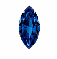 Marquise Blue Sapphire Lab Created Synthetic Loose Stones