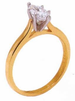 Marquise Cubic Zirconia Cathedral Solitaire Engagement Rings