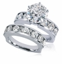Novara 2.5 Carat Round Cubic Zirconia Channel Set Round Wedding Set