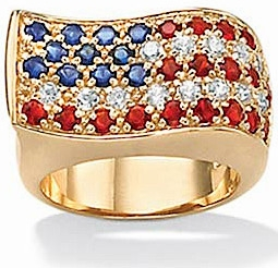 Old Glory American Flag Red White and Blue Ring