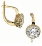Olympia Bezel Set Round Cubic Zirconia Leverback Earrings