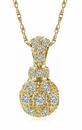 Pave Perfume Bottle Shaped Cubic Zirconia Pendant