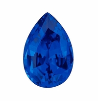 Pear Blue Sapphire Lab Created Synthetic Loose Stones